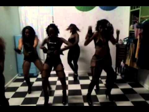 """TASTE Ladies Miami Burlesque Group Perform """"Dear Mrs. Carter"""" Set Cover Partition"""