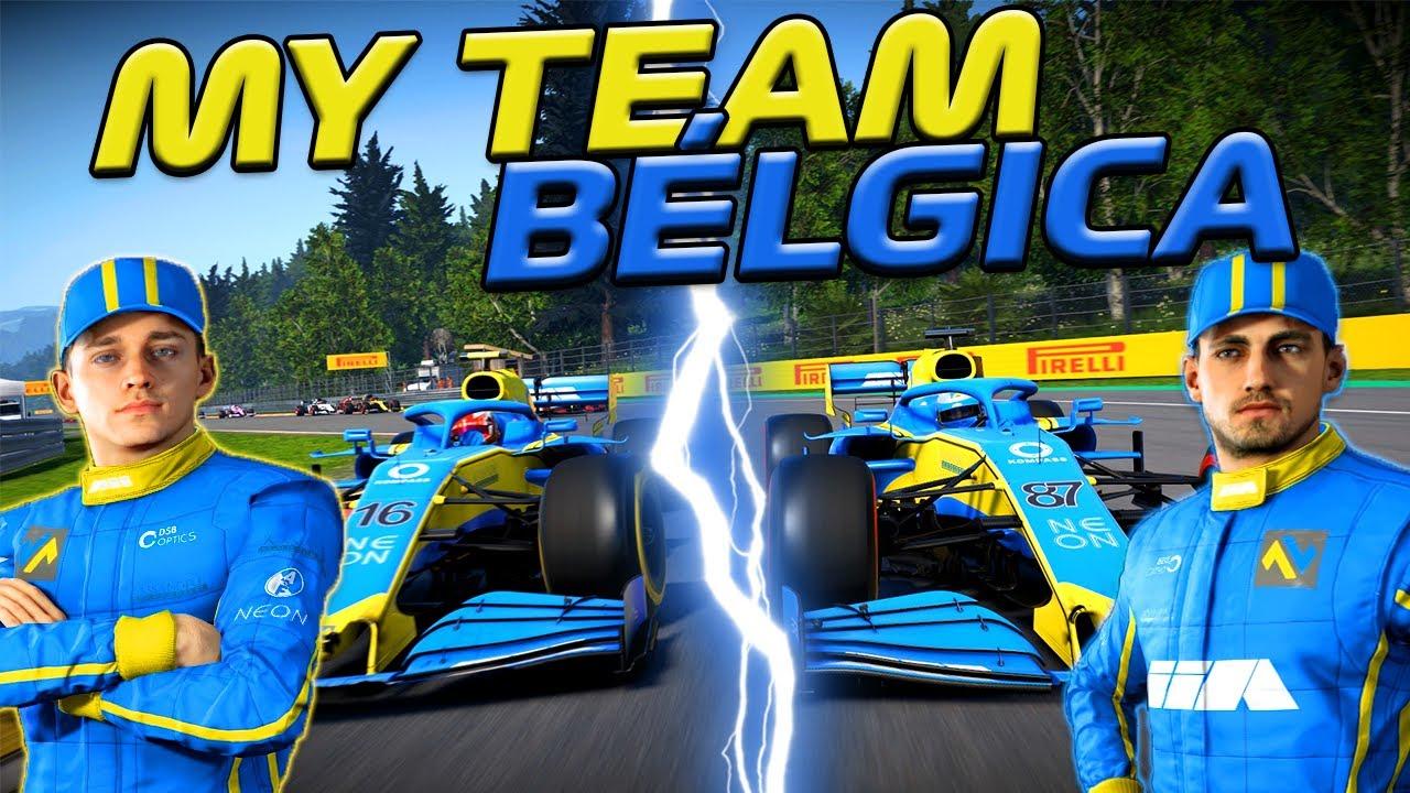 F1 2020 - MY TEAM - GP DA BÉLGICA - A LUTA PELA VITÓRIA DUROU A CORRIDA TODA - EP 103