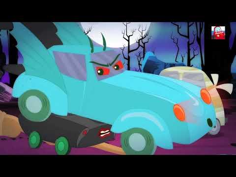 Привет ее Хэллоуин | Hello Its Halloween | Little Red Car Russia | потешки и дети видео