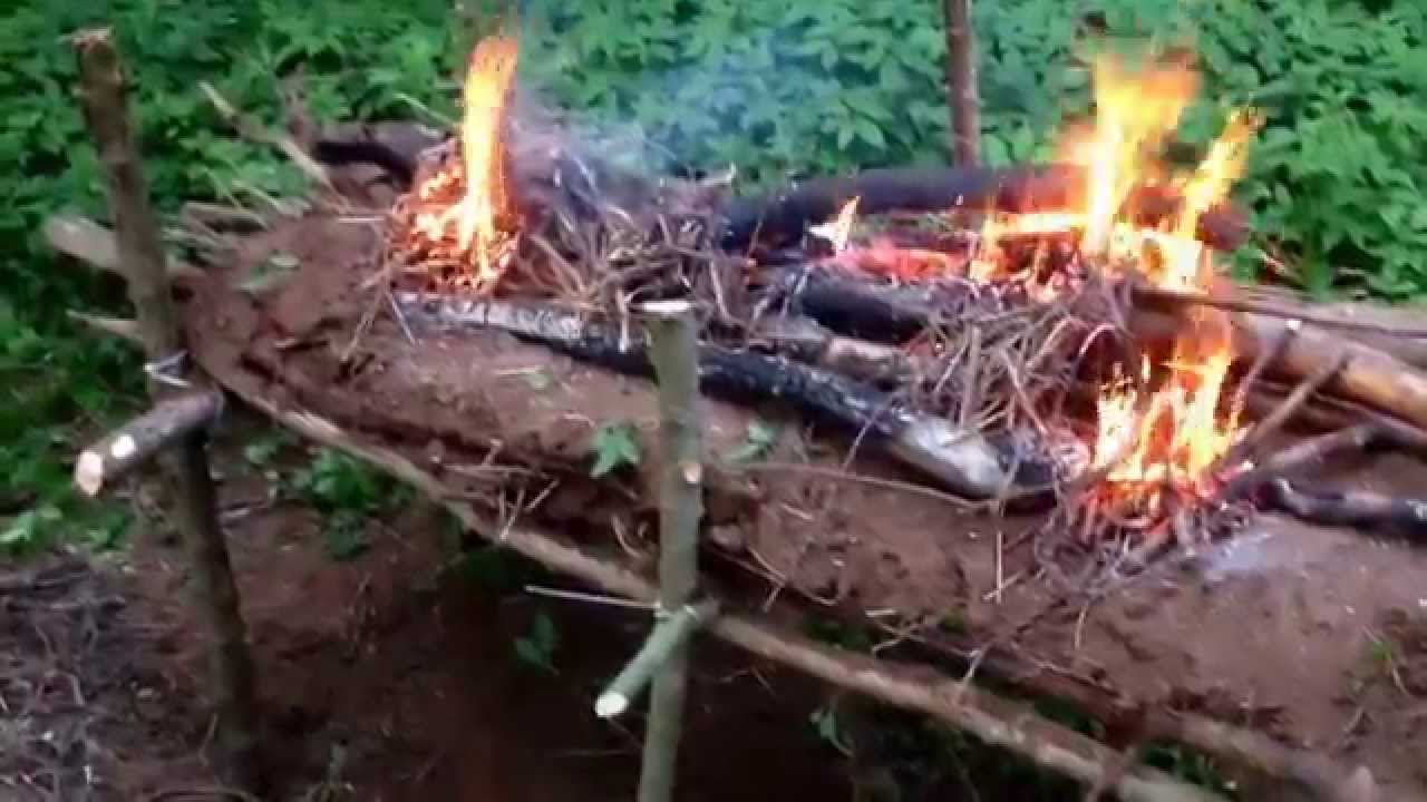 Survival Raised Long Log Fire Youtube