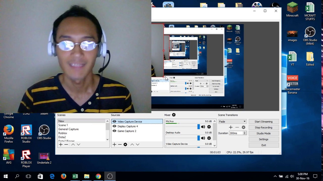 How to record my/your Gameplay with facecam/webcam on PC 2016-2017!