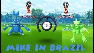 Pokemon Go - Latin Unown Fifa World Cup Event in Heracross(100%) & Scyther Nests
