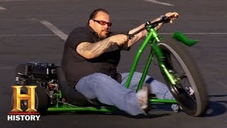 Counting Cars: Doing Burnouts on the Big Wheel Drifter (S4, E11) | History