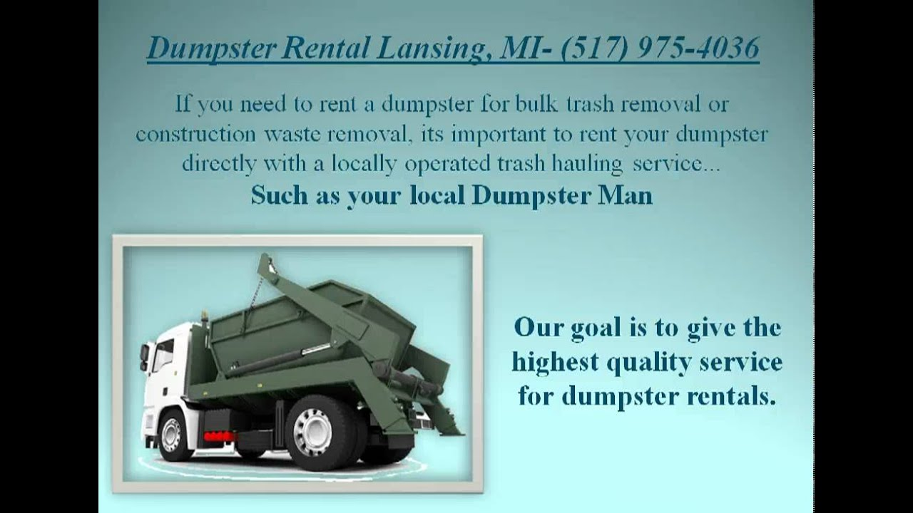 Dumpster Al Lansing Mi Trash Disposal Services Roll Off Als Uses With Service