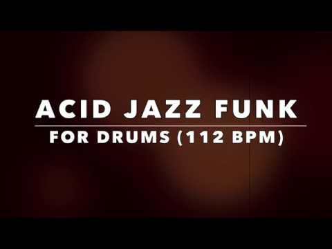 Acid Jazz Funk Backing Track for Drummers (NO DRUMS)
