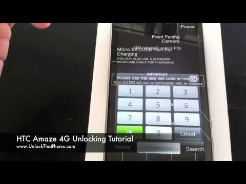 How to Unlock HTC Amaze 4G with Code + Full Unlocking Tutorial!! tmobile at&t rogers bell o2 orange