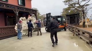 초대형 티크목재 뿌리탁자 옮기기 (부제 : 세상의나무 …