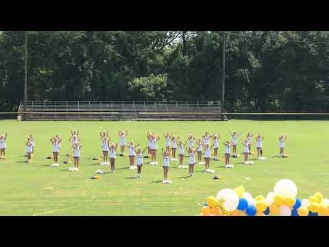 Tallulah Academy Cheerleaders. Meet the Trojans Pep Rally
