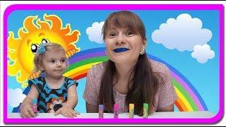 Buze cu sclipici |  Invatam culorile cu Anabella Show | Video for kids