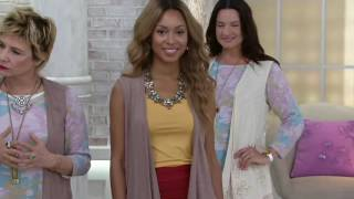 LOGO by Lori Goldstein Cotton Slub Knit Vest with Embellishment on QVC(, 2016-05-28T19:29:22.000Z)