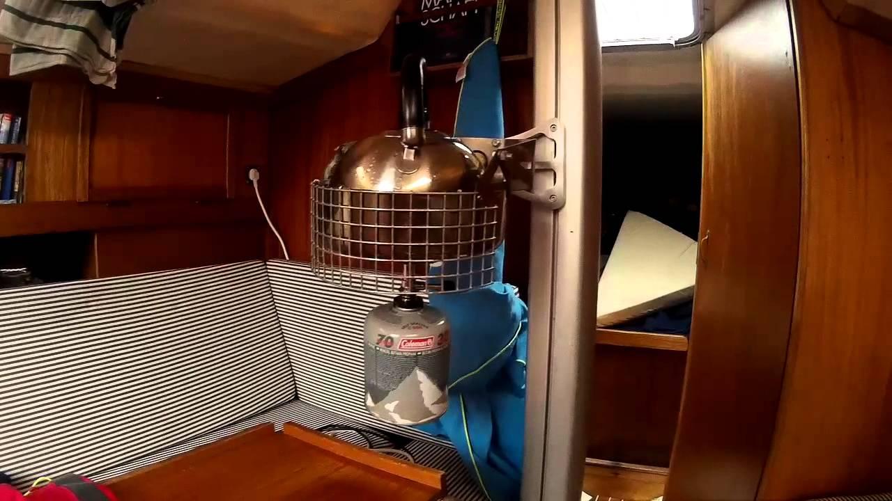gimbaled boat stove
