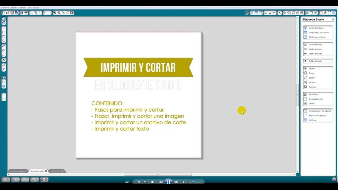 Tutorial Imprimir y Cortar con Silhouette (Español) - YouTube