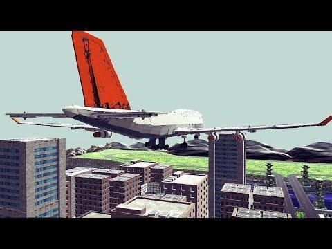 Airplanes Crashing Into City | Besiege