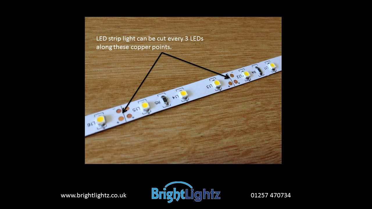Quick guide to cutting and re joining 3528 led strip light youtube quick guide to cutting and re joining 3528 led strip light aloadofball Images