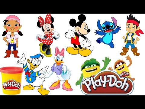 Play Doh Mickey Mouse Clubhouse Full Episodes Disney Minnie Jake Stitch Donald Anna Elsa Frozen