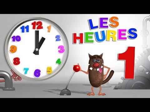 Apprendre aux enfants à lire l'heure (Learn to read a clock for Kids, Toddlers - Serie 01)
