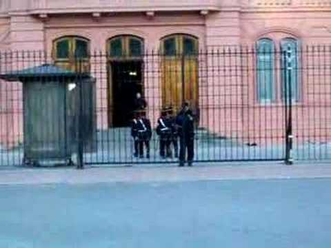 Changing of the Guard at the Casa Rosada
