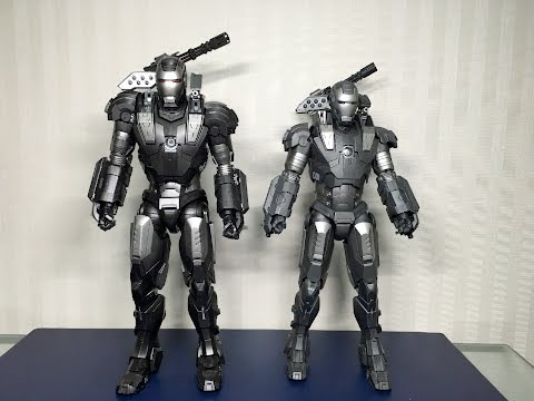 DIECAST vs PLASTIC War Machine Mark 1 by Hot Toys