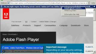 Installing Adobe Flash Player Into Firefox and Internet Explorer