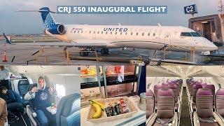 Flying On United's Crj 550 Inaugural Flight