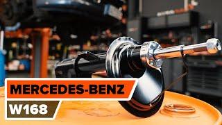 Montaż Amortyzator przednie i tylne MERCEDES-BENZ A-CLASS (W168): darmowe wideo