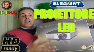 🎬PROIETTORE► Elegiant HD 2800 LUMEN (recensione ITA)