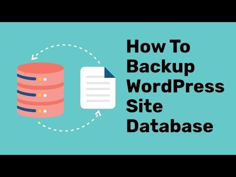 WordPress Database Backup Plugin Tutorial   How To Backup WordPress Site Database  2019 thumbnail