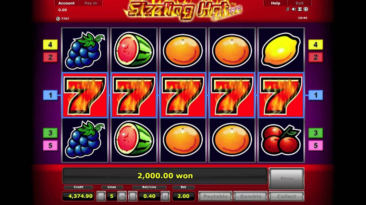 start online casino sizzling hot free