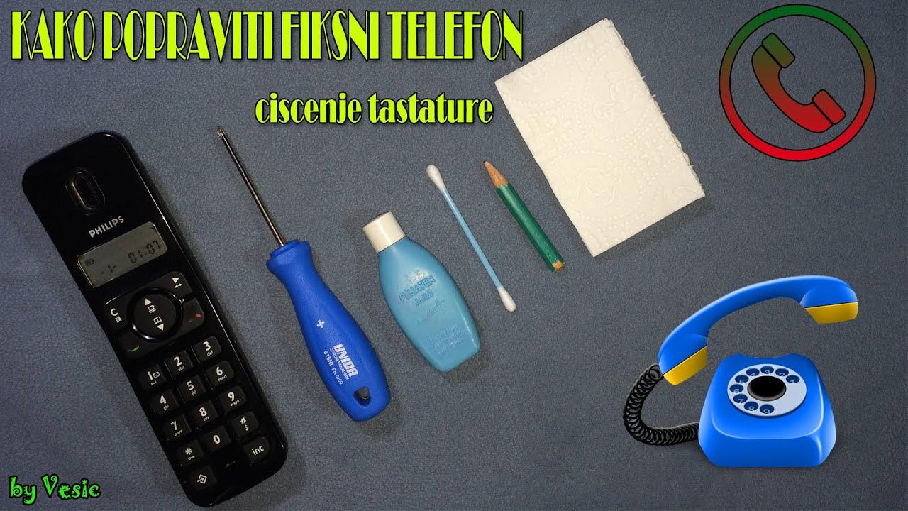 Kako popraviti fiksni telefon ( ciscenje tastature )