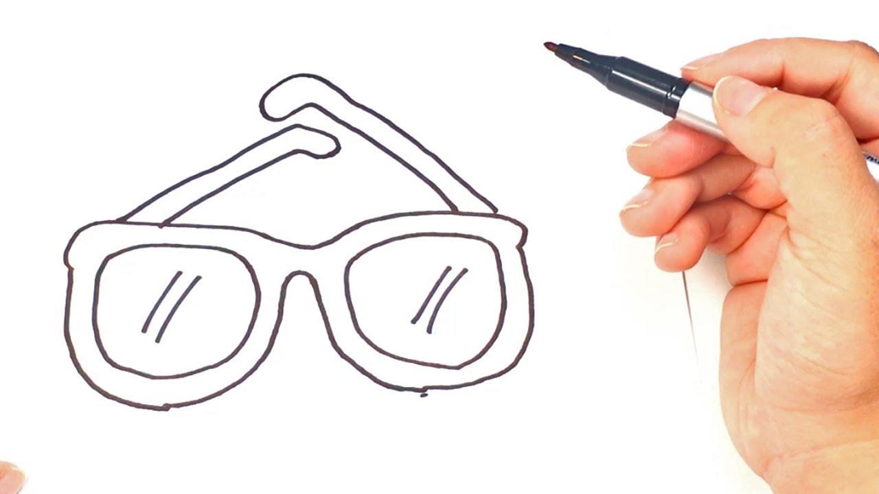 7e7115d1f1 Como dibujar unas Gafas o Lentes paso a paso | Dibujo fácil de Gafas ...
