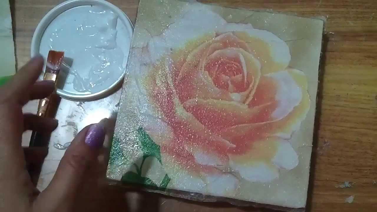 Tecnica decorativa decoupage youtube - Laminas decorativas para pared ...
