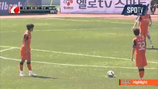 2015 K리그 챌린지 5R 강원FC vs 안산경찰청 하이라이트
