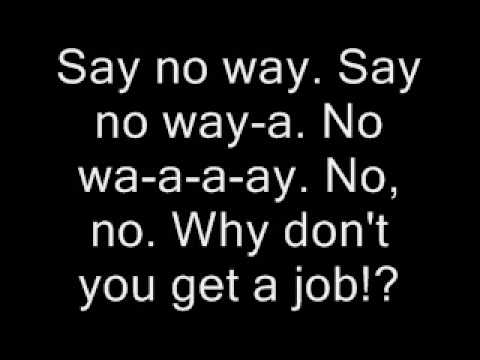 Why Don't You Get A Job-Karaoke
