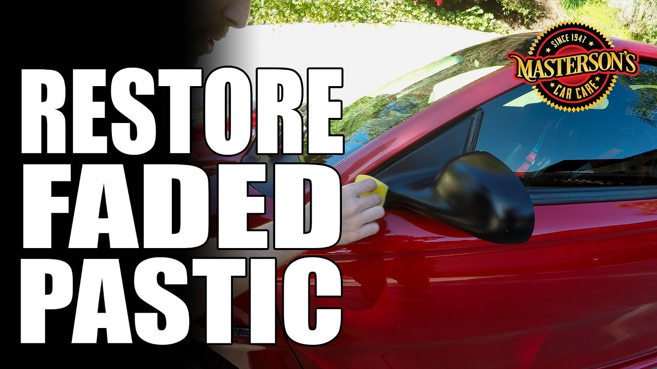 How To Restore Faded Plastic Trim Masterson 39 S Car Care Ford Mustang Youtube