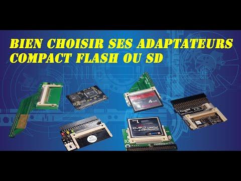 Présentation De Plusieurs Adaptateurs Pour Compact Flash Et Sd.