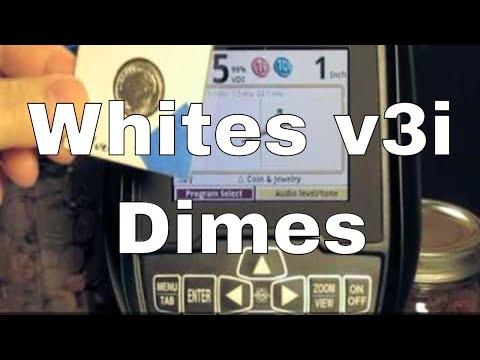 White S V3i Dime Coins Vdi Numbers Metal Detecting Youtube