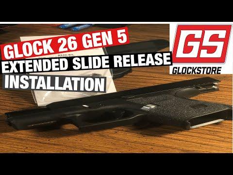Glock 26 Gen 5 extended slide release - YouTube