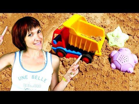 Машинки и Маша Капуки - Песочница для свинки Пеппы - Видео с игрушками для детей