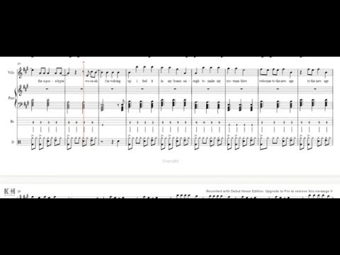 Radioactive-Imagine Dragons sheet music piano/violin/vocals/bass guitar tab/drums cover tutorial