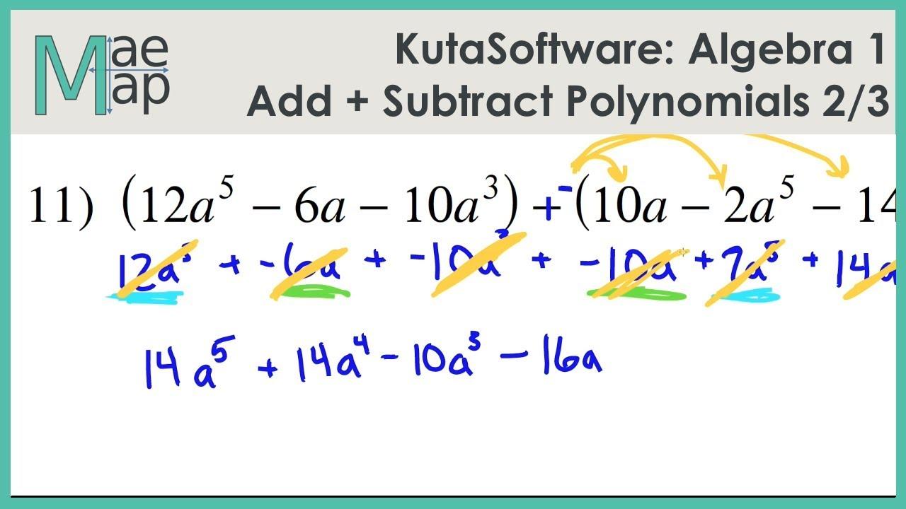 Adding and subtracting radicals kuta software