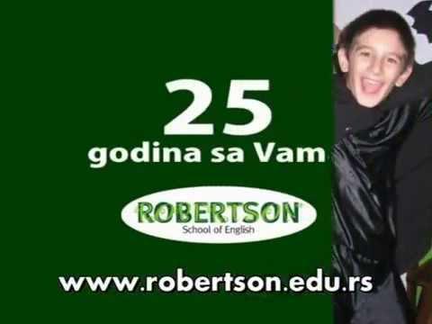 """Televizija Studio B, reklama škole Robertson """"25 godina sa Vama"""". emisije """"Vodič za roditelje"""""""