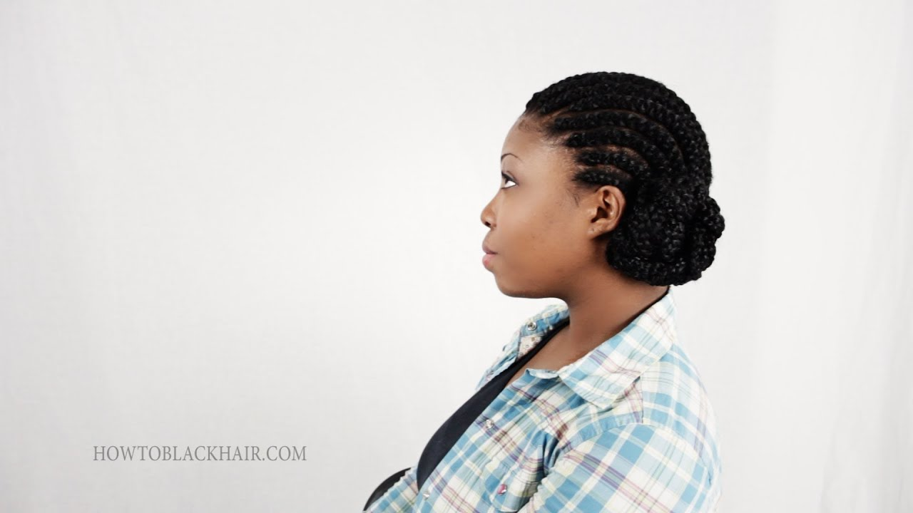 3 Cornrow French Braid Hair Styles With Weave Tutorial Part 6