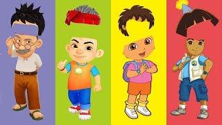Wrong Hairs Pada Zaman Dahulu Kakek Aris Dora Diego Dora The Explorer Finger Family Song
