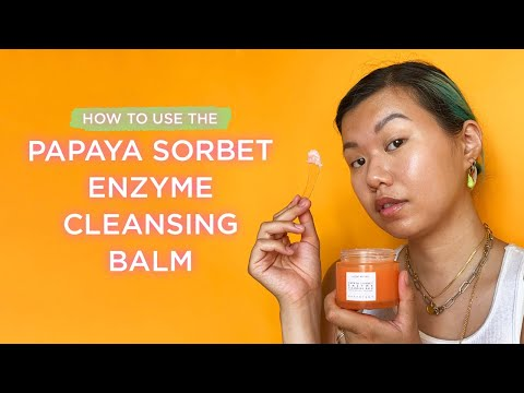 How to Use the Papaya Sorbet Enzyme Cleansing Balm | Glow Recipe