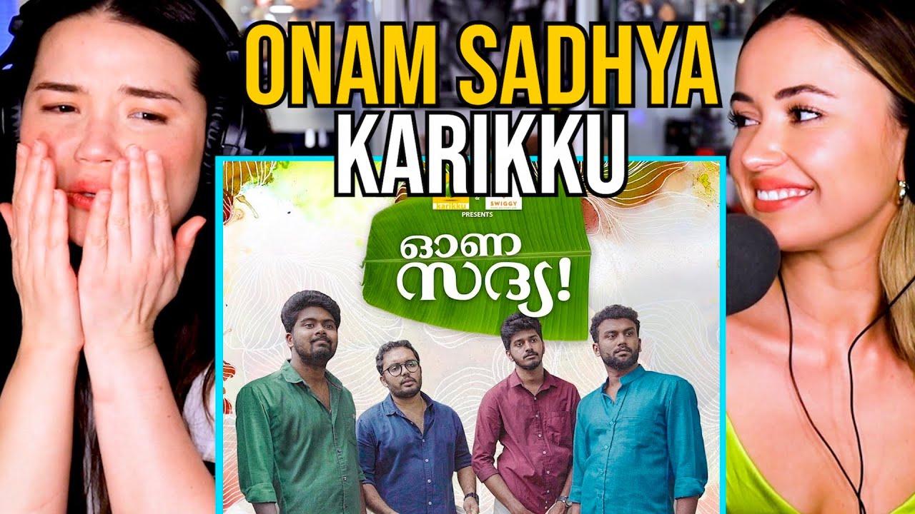 Download KARIKKU   Onam Sadhya   Comedy   Reaction by Achara & Carolina Sofia!