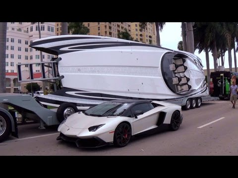 Best Supercars Arriving For The Car Show Lamborghini