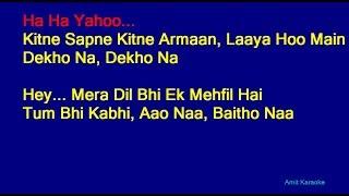 Kitne Sapne Kitne Armaan - Kishore Kumar Hindi Full Karaoke with Lyrics