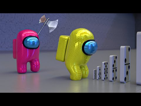 Among Us RTX ON - 3D Animation - The domino effect