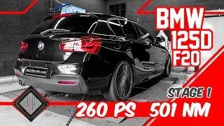 BMW 125d F20 Stage 1 | Chiptuning - Dyno - 100-200 km/h | mcchip-dkr
