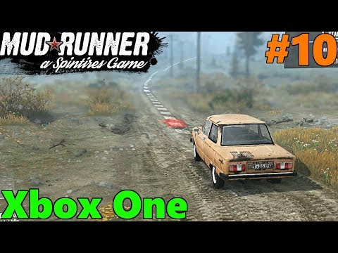 SpinTires Mud Runner: Xbox One Let's Play! Part 10 | Driving a Little Car to Grandma's House